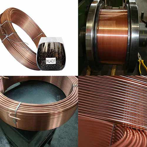 Submerged arc welding wire welding process